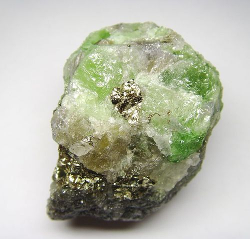 Tsavorite Crystal Specimen with Pyrite - Rarity (Africa Expedition 2017)