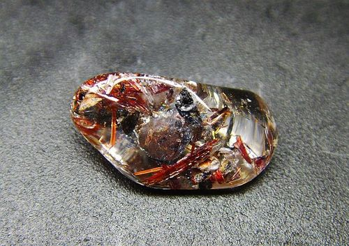 Shamanic Dreamstone with red Rutile from Tanzania