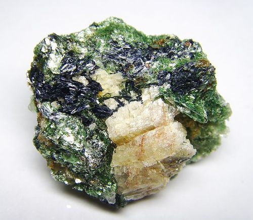 Glaucophane Crystals and Fuchsite from Italy - Mineralogical Rarity